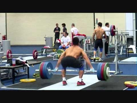 Lu Xiaojun 180kg Fast Snatch Pull - London Olympics