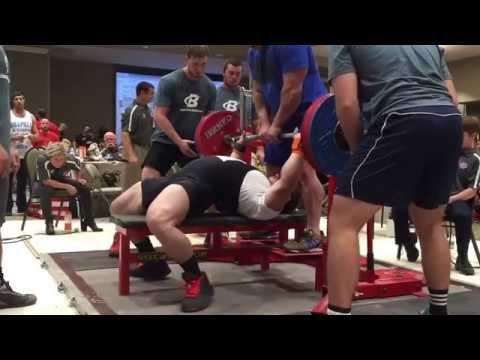 Dan Green RUM 8 227.5kg/490.5lb Bench Press 100kg/220lb weight class