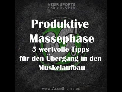 Produktive Massephase: 5 wertvolle Tipps für den Übergang in den Muskelaufbau