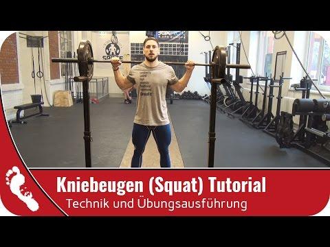 Kniebeugen (Squat) | richtig ausführen - mit dieser Technik!