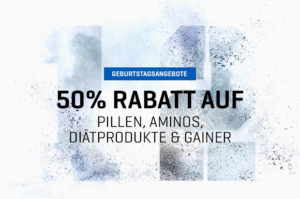 50% Rabatt auf Pillen, Aminos, Diätprodukte & Gainer. Code: AMIDE