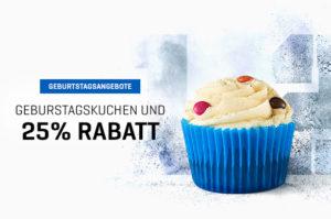 25% Rabatt + Gratis Protein Cupcakes in einer Geburtstags-Sonderedition. Code: KUCHEN