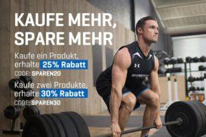 30% Rabatt auf die komplette Myprotein Bestellung. Code: SPAREN30 (gültig bis 25.10.2016)