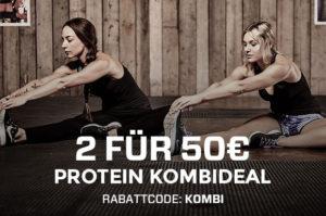 2x 2,5 kg Protein für 50 €. Code: KOMBI (gültig bis 02.10.)