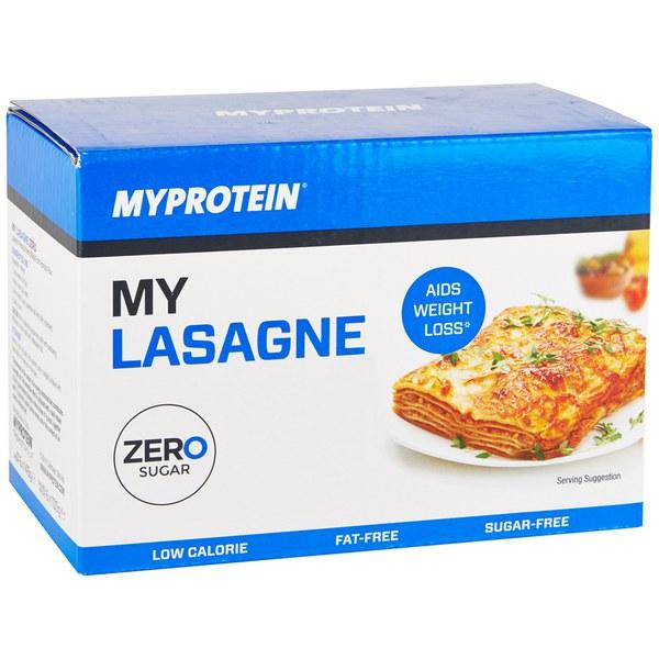 """""""My Lasagne"""" mit nur 7 Kilokalorien PRO PORTION, da aus """"Konjak"""" (Teufelszunge) hergestellt. Weitere Versionen: My Rice, My Noodles, My Spaghetti, My Fettucine, My Penne"""