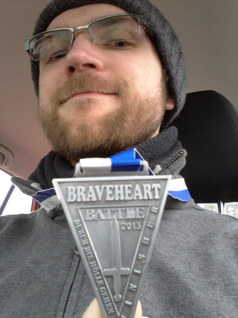 Wohlverdient: die Braveheart Medaille von Adi