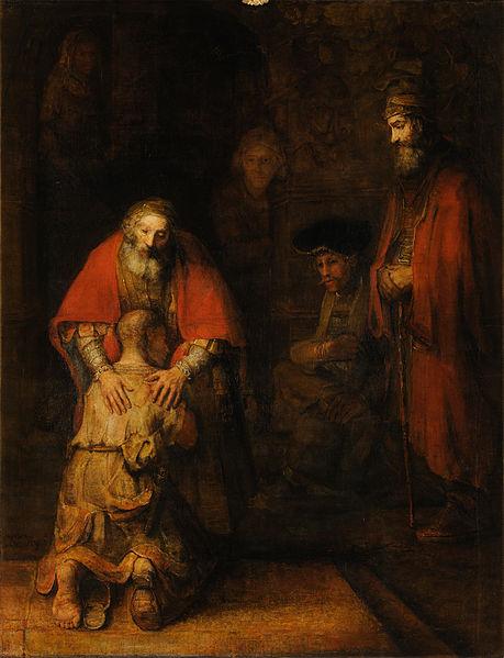 Rembrandt's Rückkehr des verlorenen Sohnes. Wir alle sind irgendwann auf Vergebung angewiesen, also solltet auch ihr dazu in der Lage sein anderen ihre Fehler zu vergeben. (Quelle: wikipedia.de)