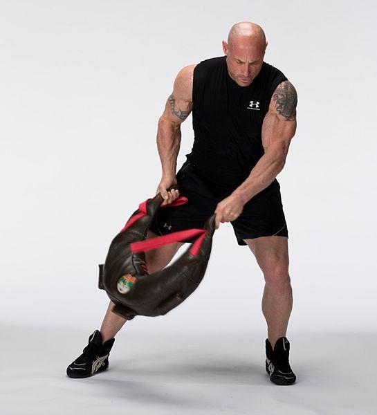 Fordernd: Das Training mit dem Bulgarian Bag eignet sich hervorragend dazu um sich an die eigenen Leistungsgrenzen zu bringen - perfektes Carido- und Konditionstraining! (Bildquelle: Wikipeda.de)