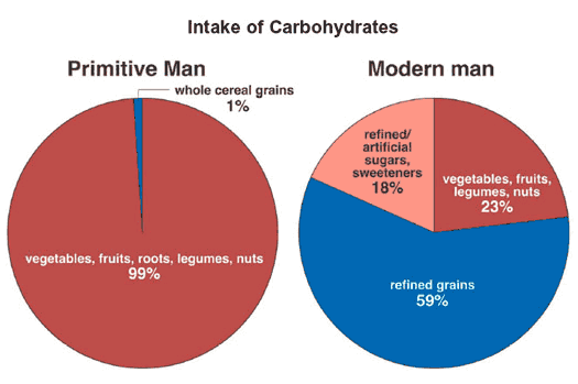 Paleo-vs-Modern-Mans-intake-of-carbohydrates