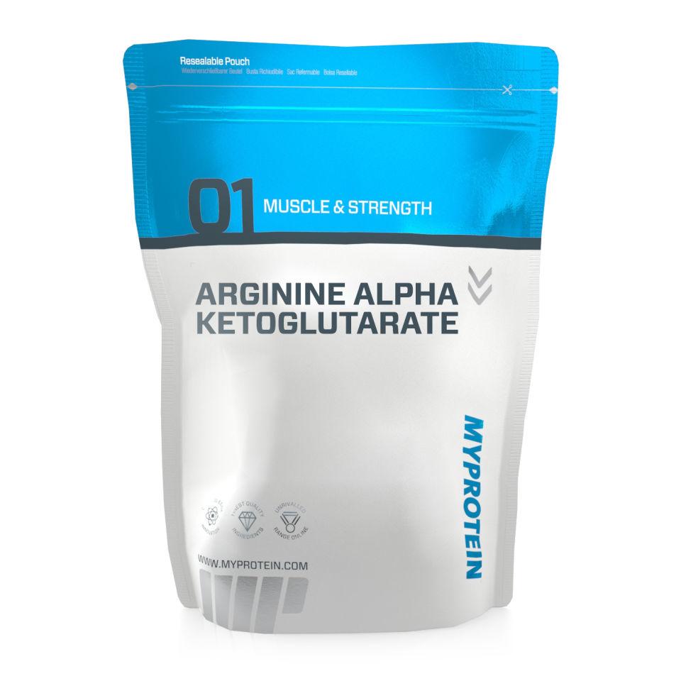 Arginin (z.B. in Form von AAKG) zählt zu den essenziellen Aminosäuren und wird im Kraftsport häufig wegen seiner positiven Wirkung auf den Blutfluss (Pump & Nährstoffversorgung der Muskulatur) als Pre-Workout-Substanz genutzt. (Bildquelle: Myprotein.com)