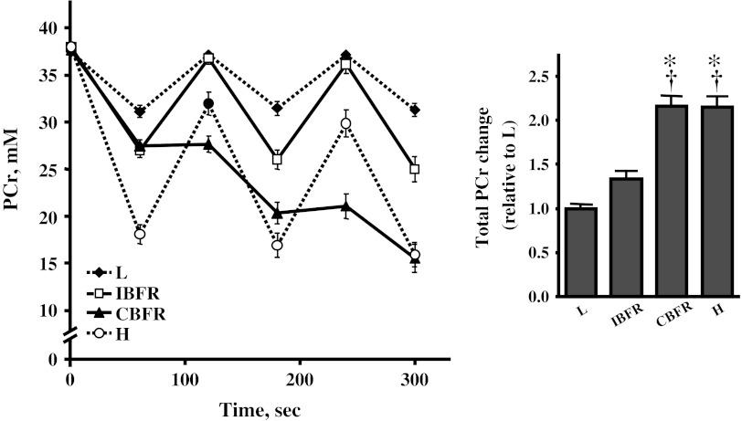 Suga et al. () untersuchten die Auswirkung unterschiedlicher Trainingsprotokolle auf die Ansammlung von Phosphocreatin