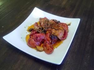 Im Ofen gebratenes Tomaten-Hühnchen