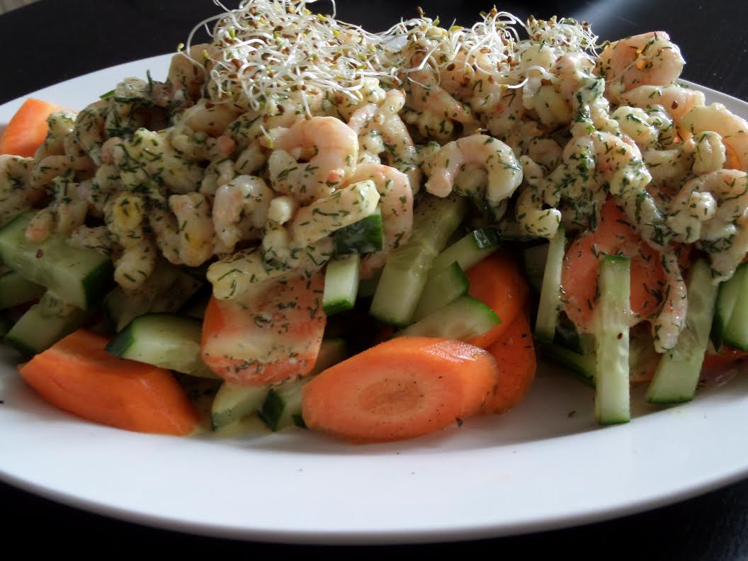Curry-Garnelen-Salat