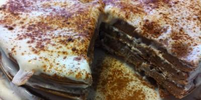 Low Carb Schokoladen Pancake Torte
