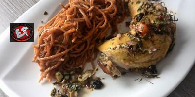 Label Rouge Hähnchen auf sizilianische Art
