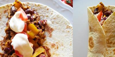 Thunfisch-Bohnen Burrito