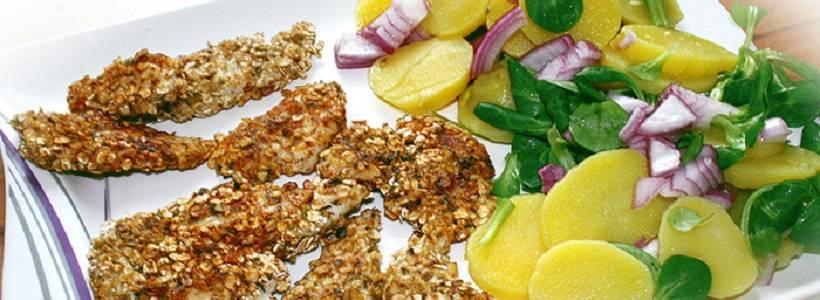 Crispy Chicken mit Kartoffelsalat