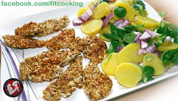 Rezept: Crispy Chicken mit Kartoffelsalat