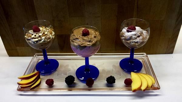 Dreierlei Mousse au Chocolate | Proteinreiches Dessert