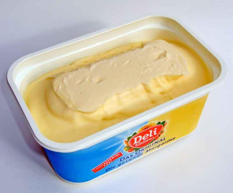 Margarine: Voller gehärteter Fette