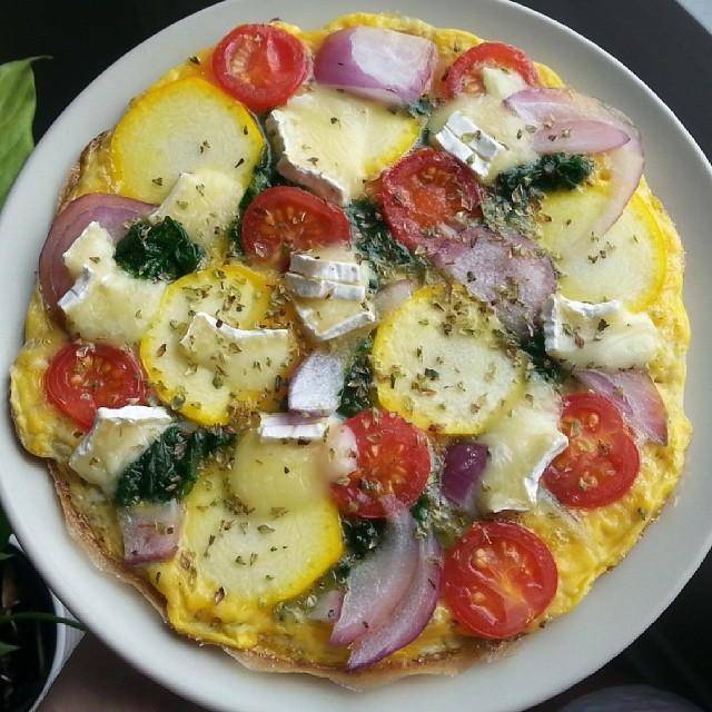 Omelette Frühstückspizza
