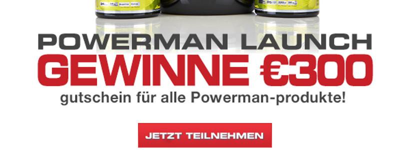 Gewinnspiel: POWERMAN Supplemente DEINER WAHL im Wert von 300 € zu gewinnen (Teilnahmeschluss: 30.09.14.)