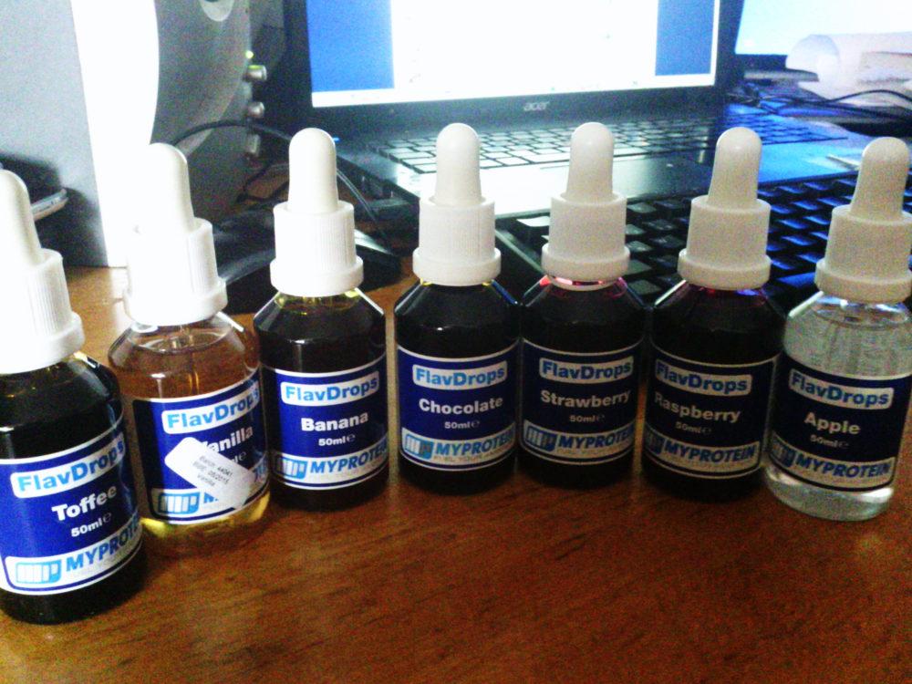 Review: FlavDrops in allen Geschmackssorten von Myprotein im Test