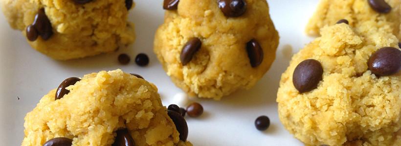 Bananen-Cookie-Dough-Bällchen