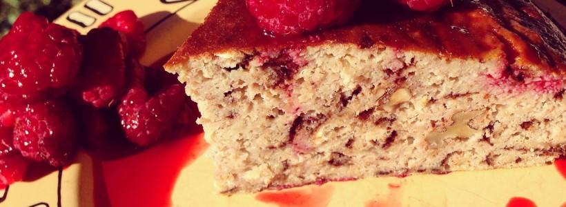 Protein-Bananen-Kuchen mit Schokostücken