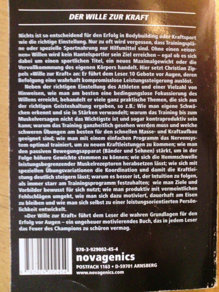 Buchempfehlung: Der Wille zur Kraft von Christian Zippel