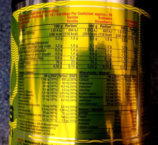 """Review: Whey 106 ISO25 + ENZYMES """"Schokolade"""" von Powerman im Test"""
