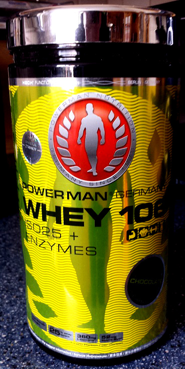 "Review: Whey 106 ISO25 + ENZYMES ""Chocolate"" von Powerman im Test"
