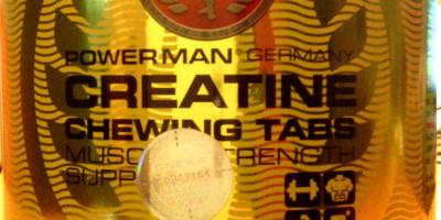 """Review: Creatine Chewing Tabs (Kautabletten) """"Orange"""" von Powerman"""