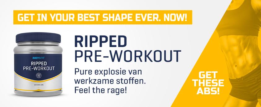 "Produkt-Released: Pre-Workout Booster ""Ripped"" - Jetzt erhältlich."