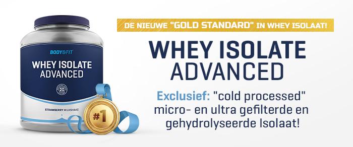 Produkteinführung: Whey Isolaat Advanced für 39,99 € (2 kg Dose) - Erhältlich in 4 Geschmacksrichtungen