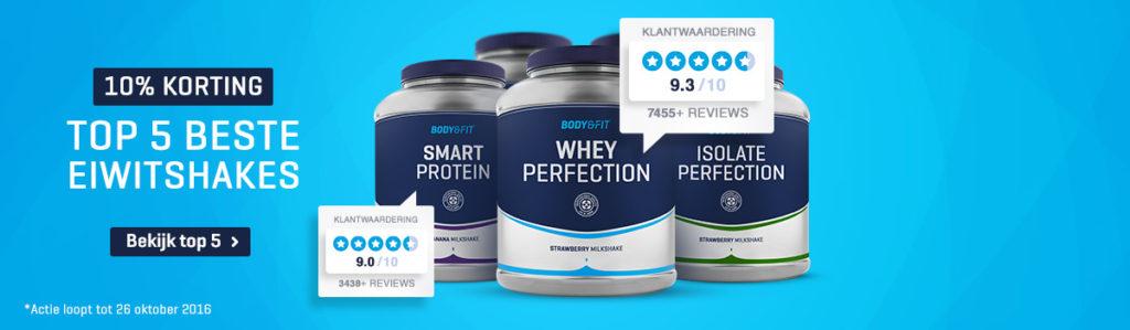 10% Rabatt auf die 5 beliebtesten Bodyenfit Proteine