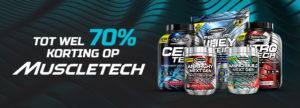 Bis zu 70% Rabatt auf MuscleTech Produkte bei Bodyenfit