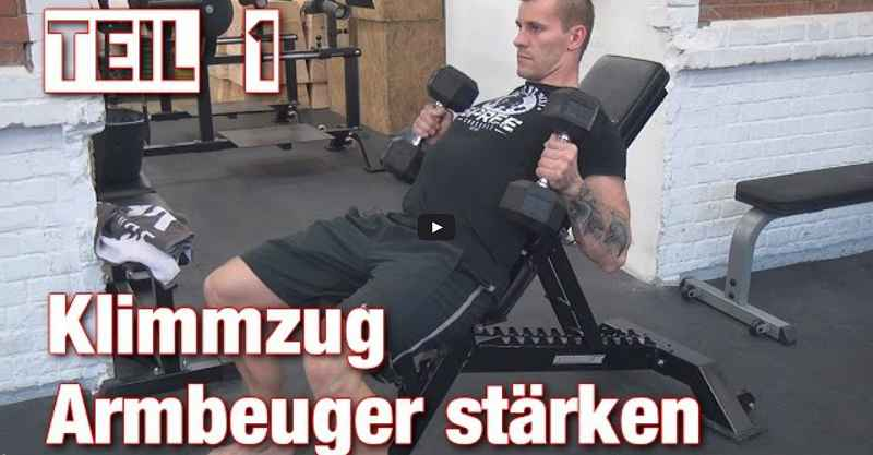 [Video] Johannes Kwella: Klimmzüge: Armbeuger stärken (Pull-Up Series #3)