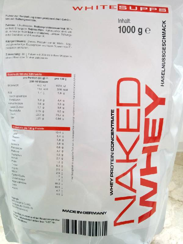 Review: Naked Whey von White Supps im Test