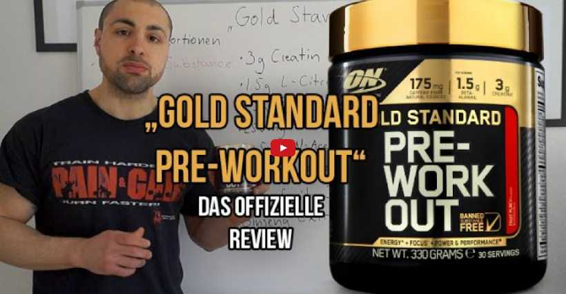 Review: Gold Standard Pre-Workout Optimum Nutrition
