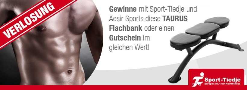 Gewinnspiel: Taurus Flachbank oder Gutschein von Sport-Tiedje zu gewinnen (Teilnahmeschluss: 04.05.15.)