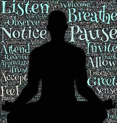 Meditation heißt Gedanken ziehen lassen