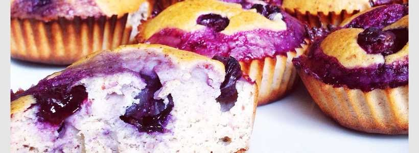Protein Banana-Blueberry Muffins