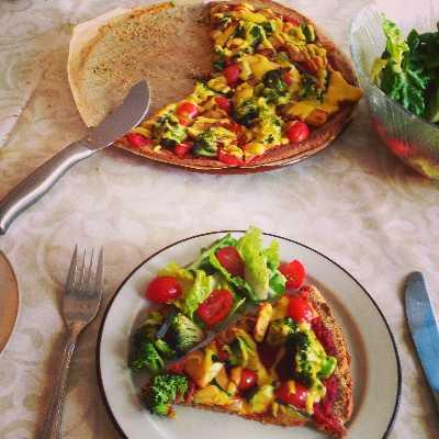 Gemüse Pizza Rezept | Vegetarisch & Vegan