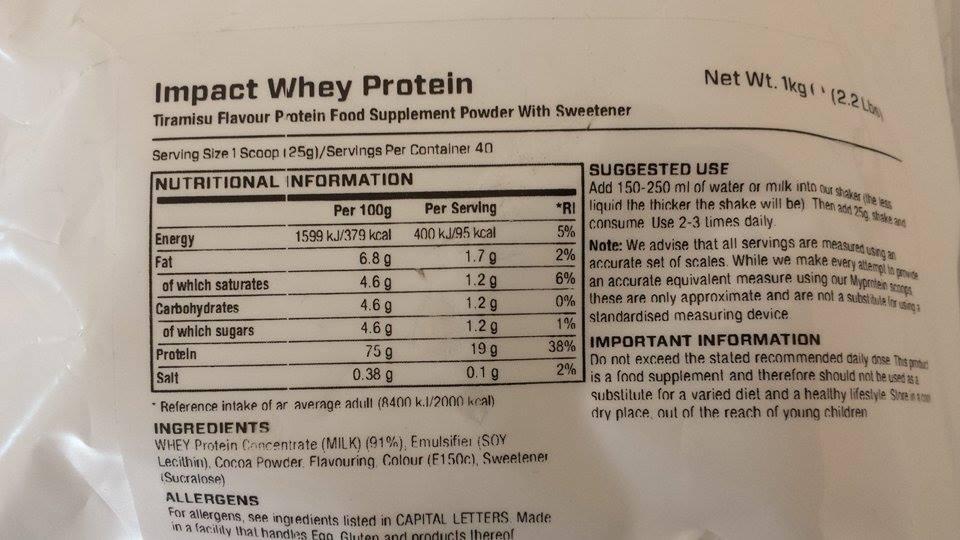 Impact Whey Protein Tiramisu
