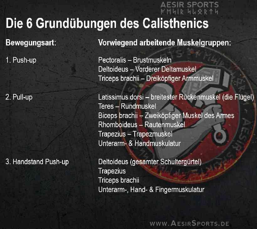 Die 6 Grundübungen des Calisthenics