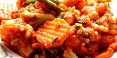 Low Fat Gemüsepfanne mit Bulgur