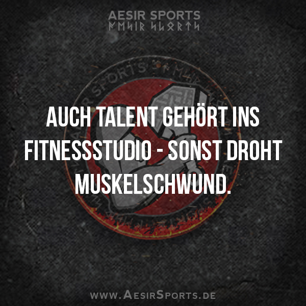 Auch Talent gehört ins Fitnessstudio