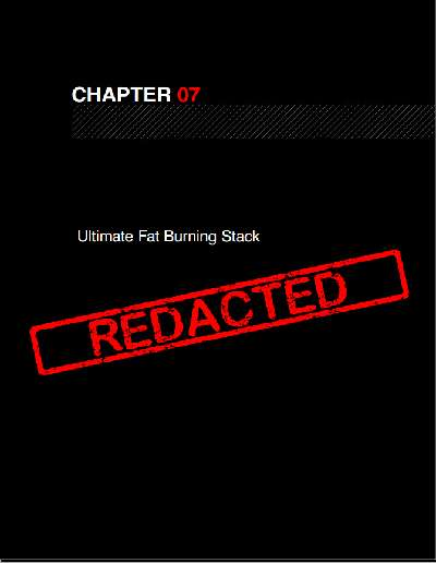 Chapter 07: Ultimate Fat Burner Stack - leider in der eBook Version nicht enthalten.
