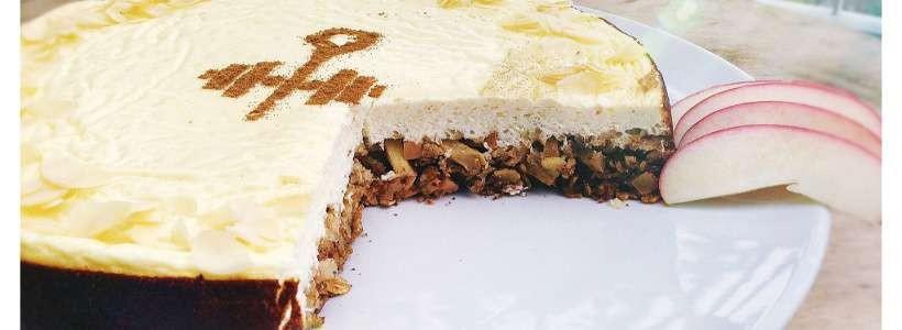 Apple Cheesecake | Protein Kuchen Rezept